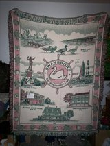 """SWANSBORO"" THROW BLANKET, NEVER USED in Camp Lejeune, North Carolina"