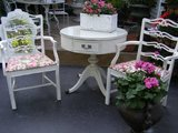 pretty pair shabby chic arm chairs in Naperville, Illinois