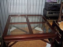 GORGEOUS vintage mahogany table w/glass inserts in Westmont, Illinois
