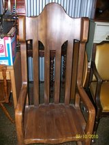 Custom made Solid Poplar rocking chair in Chicago, Illinois