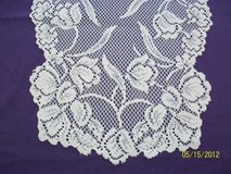 "BN 54"" ivory lace tulip tablerunners in Goldsboro, North Carolina"
